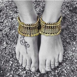 Jewelry | 2 gold boho bracelets or anklets